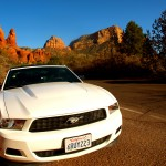 ford-mustang-red-rock-canyon-sedona-arizona-sunset
